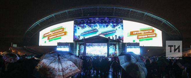 Концерт в день выборов в Казани посетили 150 тысяч человек